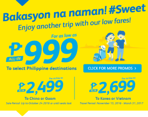 Cebu Pacific Piso Seat Sale