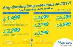 Cebu Pacific Seat Sale 2017