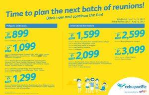 Cebu Pacific Air Seat Sale Promo 2017
