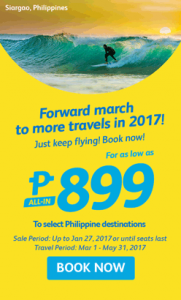 Philippine Airlines Seat Sale 2017