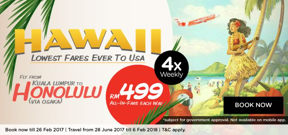 AirAsia X takes Hawaii