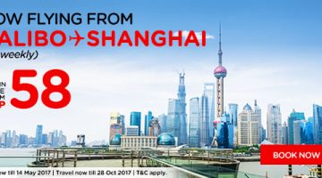 AIRASIA: FLY TO SHANGHAI, CHINA FOR php58 ALL-IN