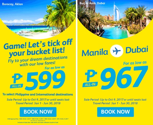 CEBU PACIFIC AIR SEAT SALE: FOR ONLY 967 ALL-IN TO DUBAI!