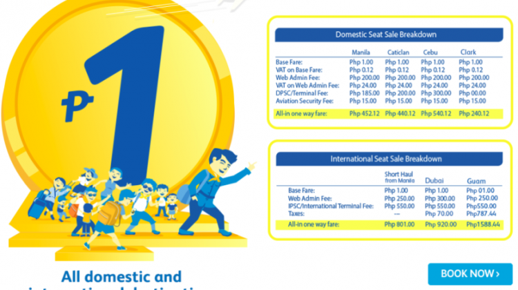 CEBU PACIFIC AIR: BOOK FLIGHTS FOR 1 PISO ONLY!