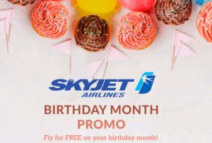 SkyJet Birthday Month Promo