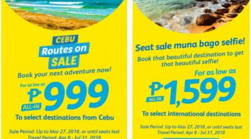 CEBU PACIFIC AIR: BOOK FLIGHTS FOR AS LOW AS 999 ALL-IN!