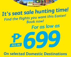 CEBU PACIFIC AIR: FLIGHTS FOR AS LOW 699!
