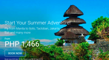 AIRASIA: BOOK YOUR SUMMER FLIGHTS FOR AS LOW AS 1466 ALL-IN!