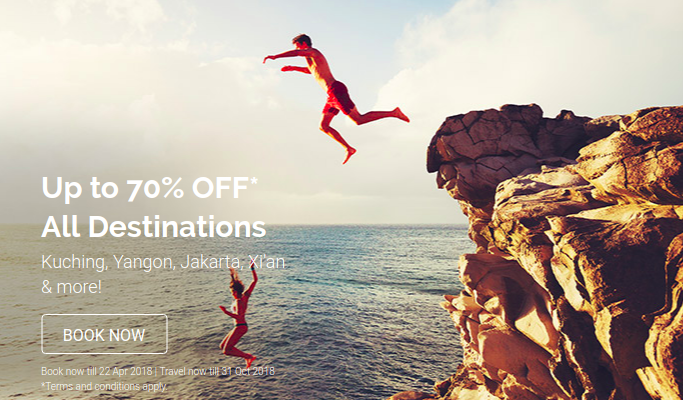 AIRASIA: 70% OFF ON ALL DESTINATIONS!
