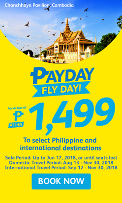 CEBU PACIFIC AIR: PAYDAY FLYDAY FOR AS LOW AS 1499 ALL-IN