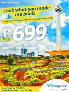 Cebu Pacific Air Piso Seat Salea