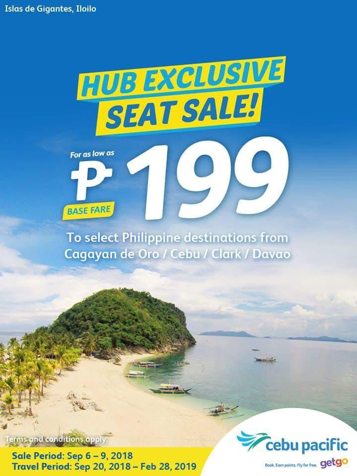 Cebu Pacific Air Hub Seat Sale