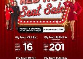 AIRASIA RED HOT SALE: FLIGHTS FOR AS LOW AS 16 PESOS