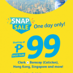 CEBU PACIFIC AIR: 99 ALL-IN ON ALL FLIGHTS FOR THIS ONE DAY SALE PROMO