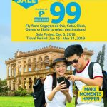 CEBU PACIFIC AIR: 99 BASE FARE ONLY TO ANY PHILIPPINE FLIGHTS