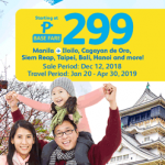 CEBU PACIFIC AIR: FLIGHTS FOR AS LOW AS 299 BASE FARE ONLY!
