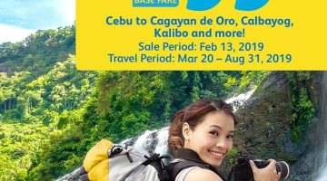 CEBU PACIFIC AIR: FLIGHTS FOR AS LOW AS 99 BASE FARE!