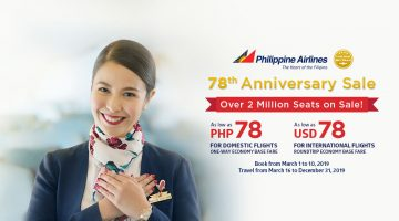 PHILIPPINE AIRLINES: FLIGHTS FOR AS LOW AS 78 PESOS ONLY!