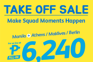 CEBU PACIFIC AIR: FLY TO MALDIVES, ATHENS and BERLIN FOR AS LOW AS 6240 ALL-IN!