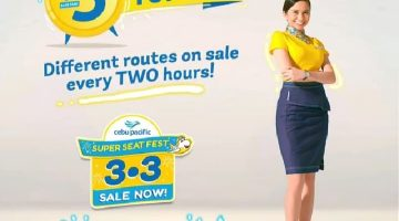 CEBU PACIFIC AIR: BOOK YOUR FLIGHTS FOR AS LOW AS 3 PESOS BASE FARE ONLY!