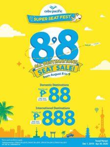Cebu Pacific Super Seat Sale