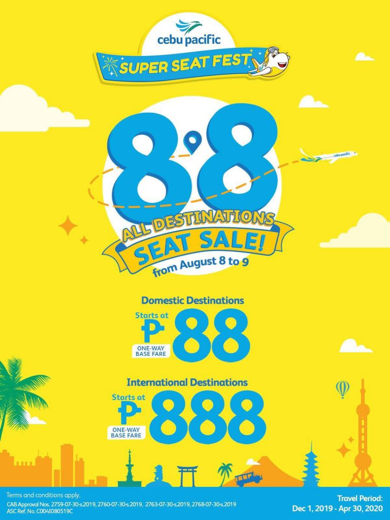 Cebu Pacific Super Seat Sale