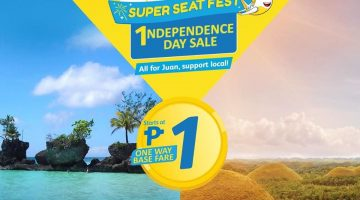 1NDEPENDENCE DAY SALE -- CEBU PACIFIC PISO FARE